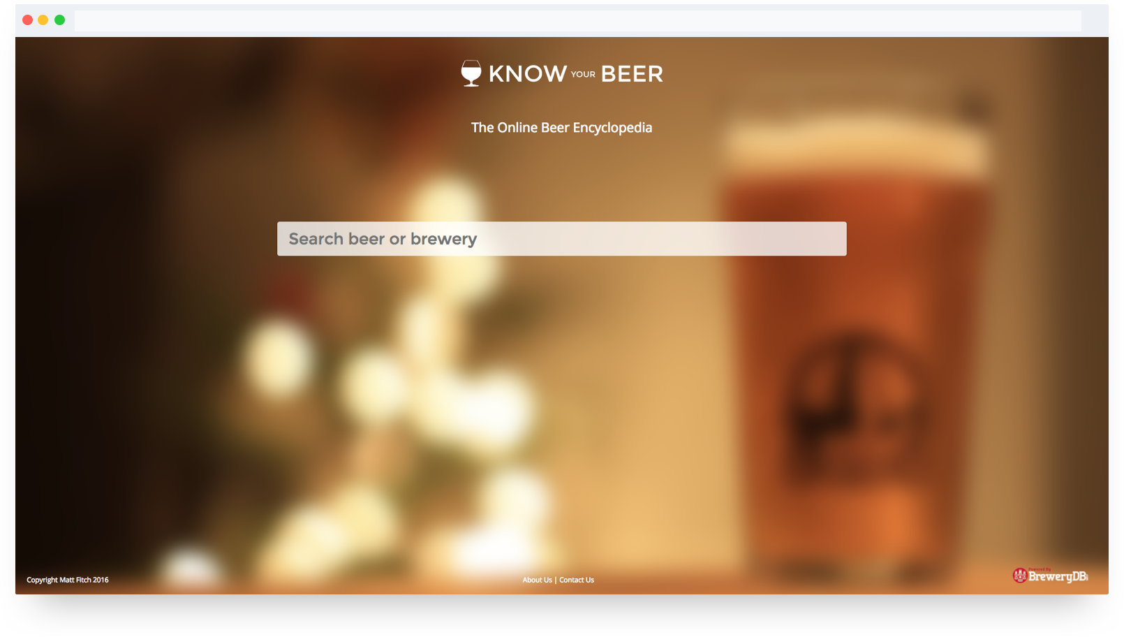 """Know Your Beer Hero"""